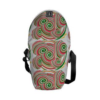 Twister, digital art design messenger bag