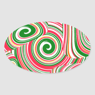 Twister, digital art design oval sticker