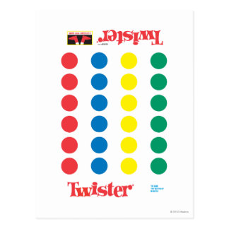 Twister Game Mat Postcard