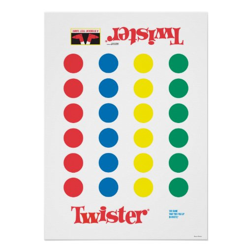 Twister Game Mat Poster Zazzle