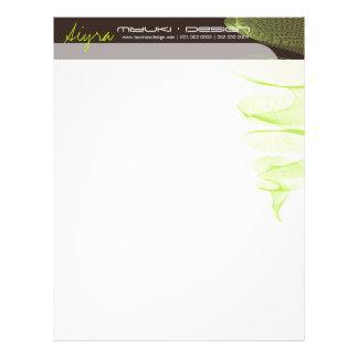 Twister Lime Green Modern Designer Letterhead