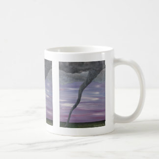 Twister Purple Gray Tornado Funnel Cloud Painting Coffee Mug