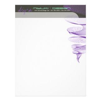 Twister Purple Modern Designer Template Letterhead