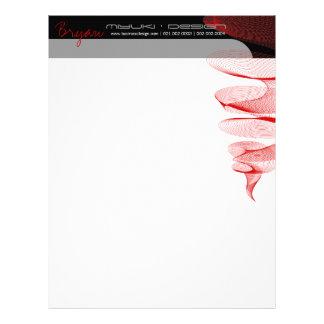 Twister Red Modern Designer Template Letterhead