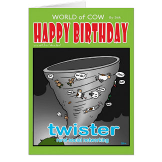 twister. Rural social networking. Greeting Card