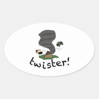 Twister! Oval Sticker