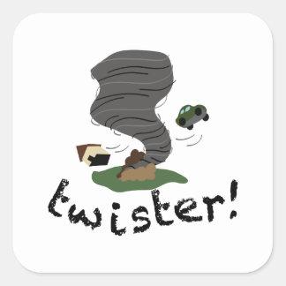Twister! Square Sticker