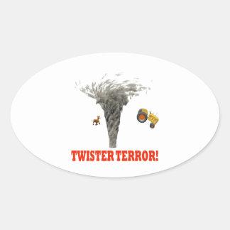 Twister Terror Oval Sticker