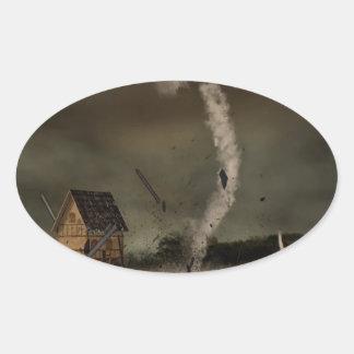 Twisters Oval Sticker