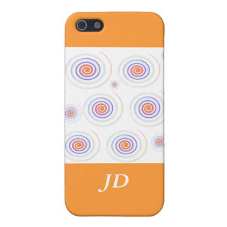 Twisting color pattern add initials cover for iPhone SE/5/5s