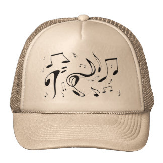 Twisting Musical Notes Hat