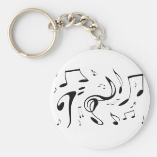 Twisting Musical Notes Keychain