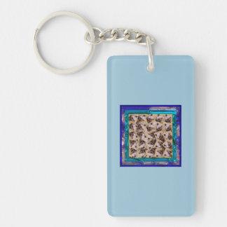 twisting piglet Single-Sided rectangular acrylic keychain