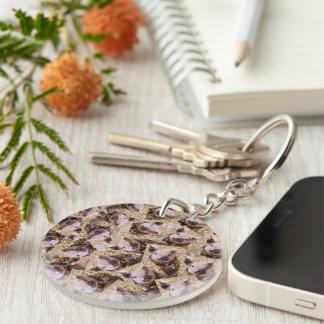 twisting piglet Single-Sided round acrylic keychain