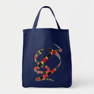 Twisting Snake Art Canvas Bag
