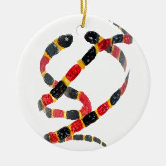 Twisting Snake Art Ceramic Ornament