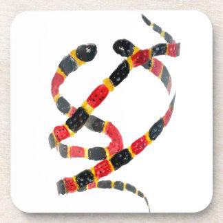 Twisting Snake Art Drink Coaster