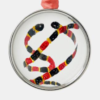 Twisting Snake Art Metal Ornament