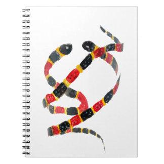Twisting Snake Art Spiral Note Books