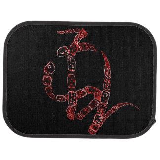 Twisting Snake Art Floor Mat