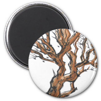 Twisting Tree Branches Magnet