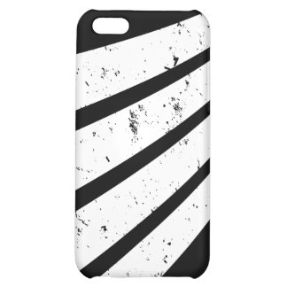 Twisting White lines on Black iphone4 case iPhone 5C Covers