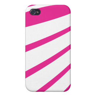 Twisting white lines on bright pink iphone4 case