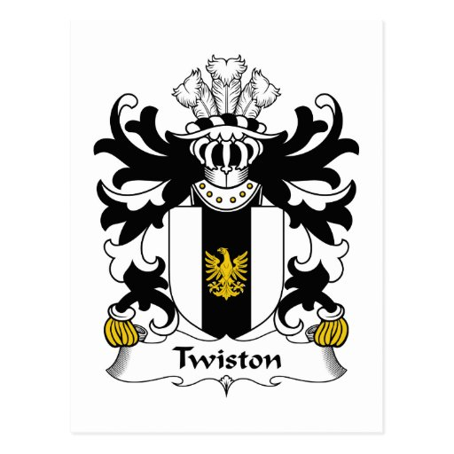 Twiston Family Crest Post Card