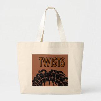 twists large tote bag