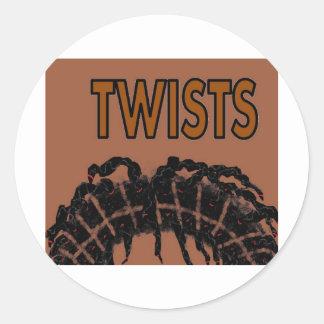 twists classic round sticker