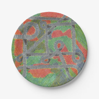 Twisty Pipes Harsh Chemicals Set of Paper Plates 7 Inch Paper Plate