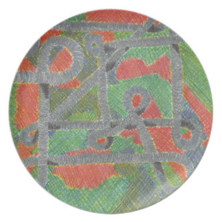 Twisty Pipes Upon Harsh Chemicals Melamine Plate