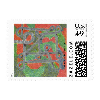 Twisty Pipes Upon Harsh Chemicals Postage Stamps