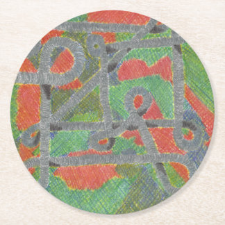 Twisty Pipes Upon Harsh Chemicals Set of Coasters