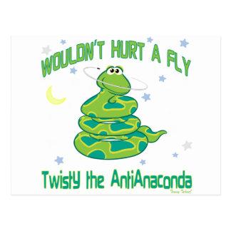 Twisty the AntiAnaconda Postcard