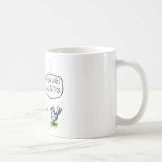 Twit looks at mother one… coffee mug