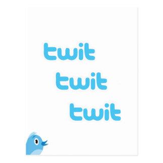 Twit Twit Twit Twitter! Postcard