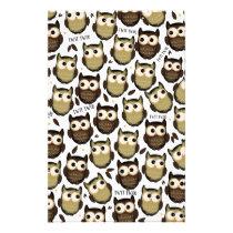 Twit twoo! cute owl pattern. stationery