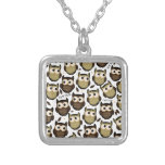 Twit Twoo! Silver Plated Necklace