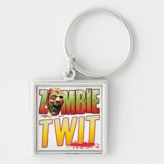 Twit Zombie Head Keychain