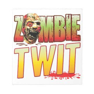 Twit Zombie Head Memo Pads