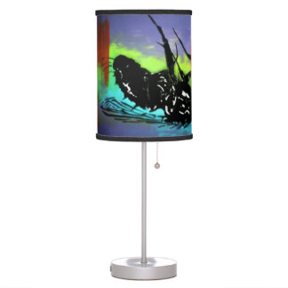 'Twitch' on a table lamp