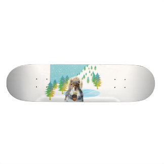 Twitch the Winter Squirrel Skateboard
