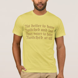 Men's Basic American Apparel T-Shirt with Twitched And Lost... design
