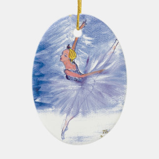 Twitt Snow Queen-Nutcracker Ballet by Marie L Ceramic Ornament