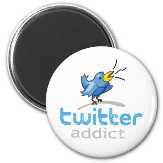 twitter addict 2 inch round magnet
