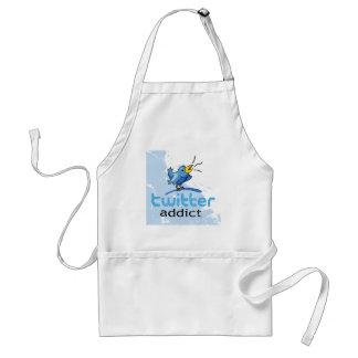 twitter addict adult apron