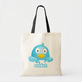 Twitter Addict Budget Tote Bag