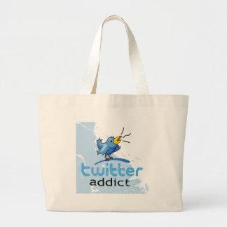 twitter addict jumbo tote bag