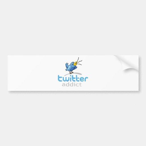 twitter addict bumper sticker
